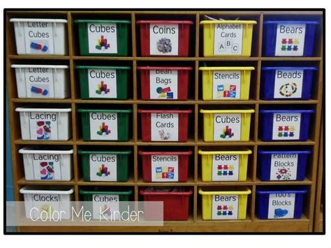 printable cubby tags for preschool color me kinder free manipulative cubby labels