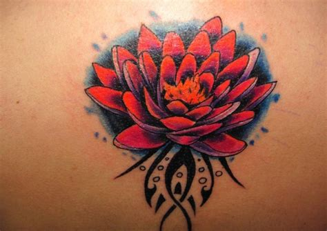 red flower tattoo designs lotus tattoos designs ideas and meaning tattoos for you