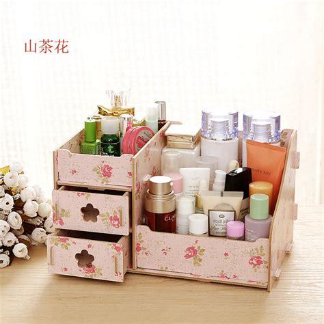 makeup desk organizer diy wood cosmetic organizer makeup storage box holder