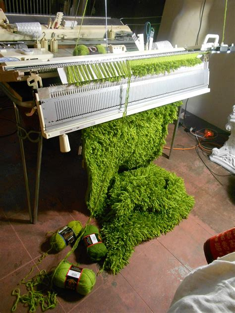 how do knitting machines work how do you make grass why on a knitting machine of course