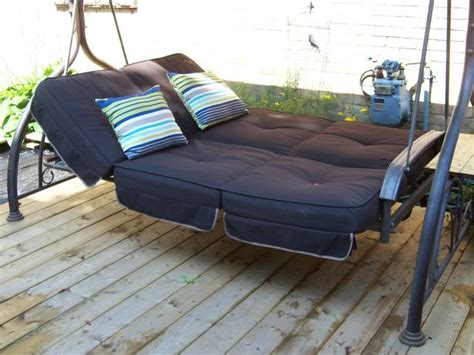 patio swing costco costco large patio swing daybed with canopy can