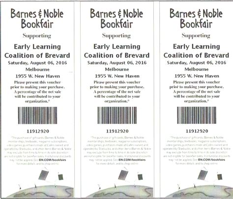 Barnes Noble Return Policy Early Learning Coalition Barnes And Noble Book Fair
