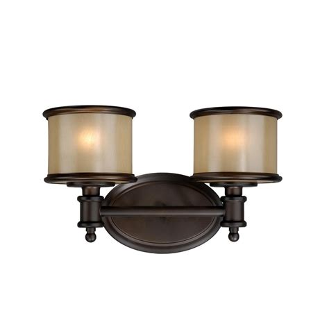 Bronze Bathroom Vanity Lights Shop Cascadia Lighting 2 Light Carlisle Noble Bronze Bathroom Vanity Light At Lowes