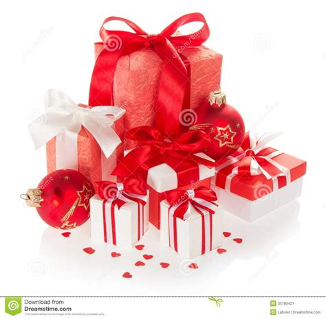 new year 5 box bright gift boxes and new year s balls stock image image