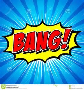 bang comic speech bubble cartoon stock vector image