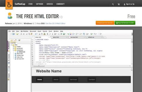 themes for coffeecup html editor best free web design software digital trends