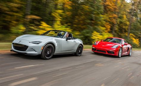 mazda mx 5 miata and porsche 718 boxster cayman 2017