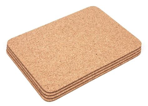 Dining Table Placemats Thick Cork Rectangular Placemats Coasters Table Mats Dining Ebay