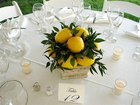 lemon centerpieces for weddings lemon centerpiece for a