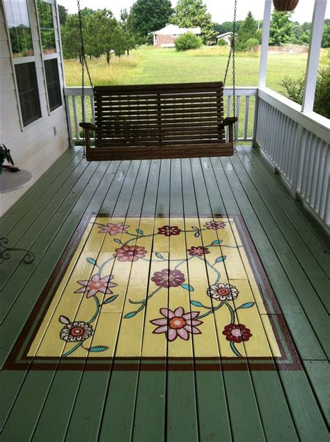 deck rug painted porch rug porches decks and patios oh my
