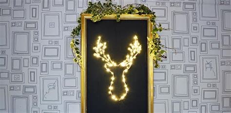 Diy Led Decoration by Brilliant Diy Led Deer Decoration Pillar Box Blue