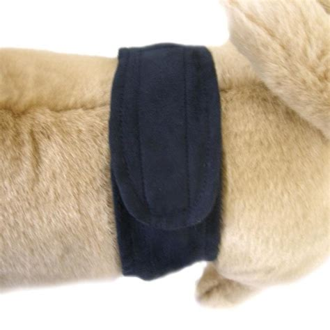 puppy belly band suede navy blue belly band petimpulse