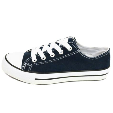 Sneakers Trainer Navy Footstep Footwear navy canvas flat trainer plimsoll pumps casual shoes size 4 8 seconds ebay