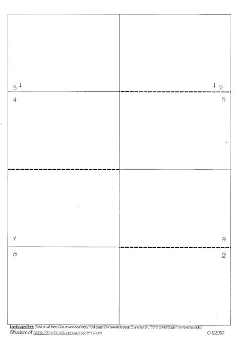 templates for mini booklets one page minibook templates practical pages