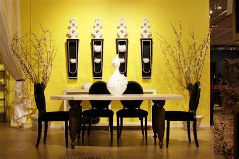 minimalist dining room pretty minimalist dining room design with yellow wall decobizz