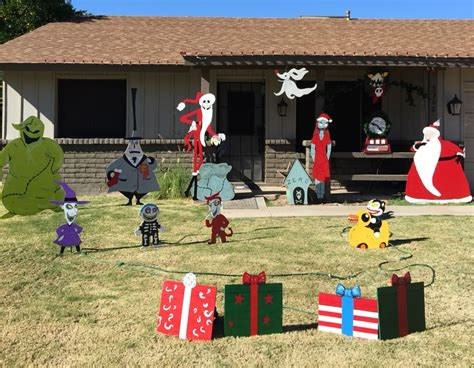 nightmare before christmas yard decorations i made from