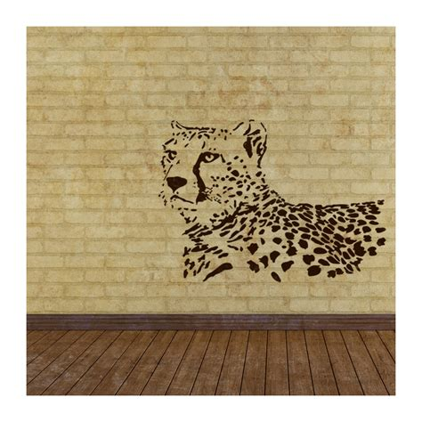 wall stencils leopard stencil large template for wall