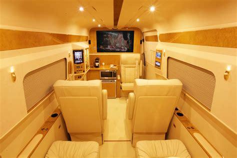 luxury minivan interior 450 000 mercedes benz b6 sprinter by lexani motorcars