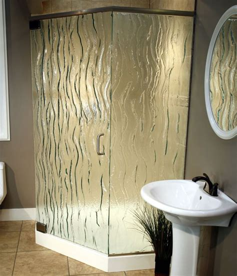 frosted  textured glass options  shower doors