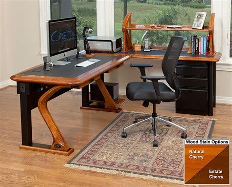 artistic computer shelf caretta workspace artistic computer desk full l shaped right caretta