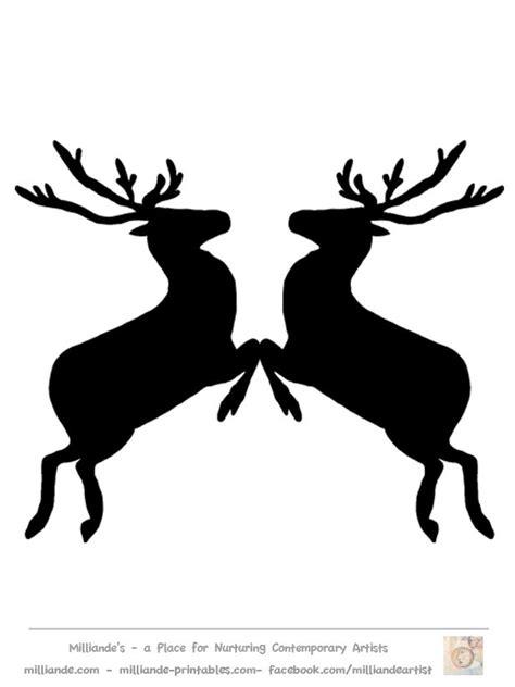 Free Reindeer Clipart Reindeer Silhouette Template At Www Milliande Printables Com Great Reindeer Silhouette Template