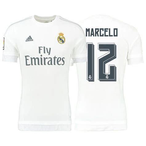Baju Koko Ss Real Madrid White 1 jersey sepakbola real madrid no 12 marcelo size m white jakartanotebook