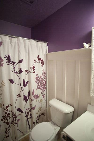 purple bathroom curtains purple board batten bathroom curtain ideas purple