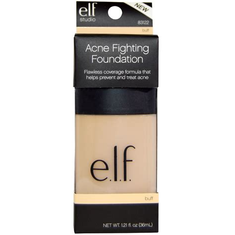 E L F Acne Fighting Foundation e l f cosmetics acne fighting foundation buff 1 21 fl