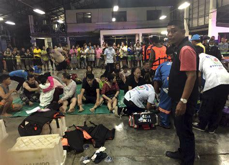 tourist boat sinks thailand death toll rises after thailand tourist boat sinks irish