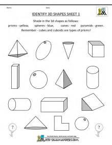 2nd grade geometry identify 3d shapes 1
