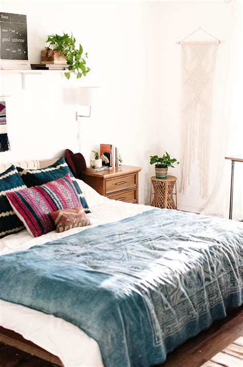 indigo bedroom for the home 15 modern boho chic interiors so fresh