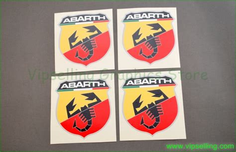 fiat abarth stickers fiat abarth punto evo 500 logos decals stickers emblems x4