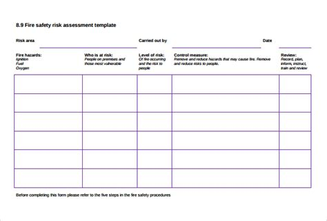 sle risk assessment template 10 free documents in