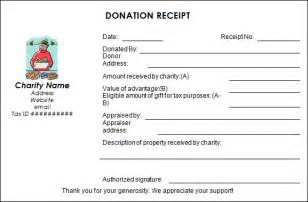 donation receipt templates sle donation receipt template 17 free documents in
