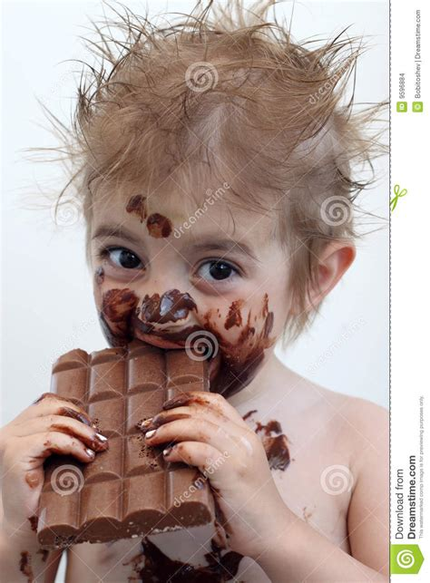 eats chocolate child chocolate stock photo image of child 9596884