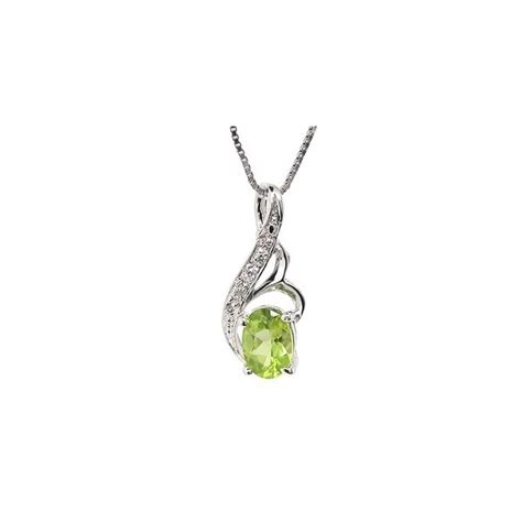 1 carat solitaire peridot pendant necklace for