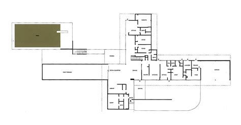 kaufmann desert house floor plan richard neutra kaufmann house floor plans