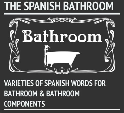 terms for bathroom spanish words for bathroom and bathroom components