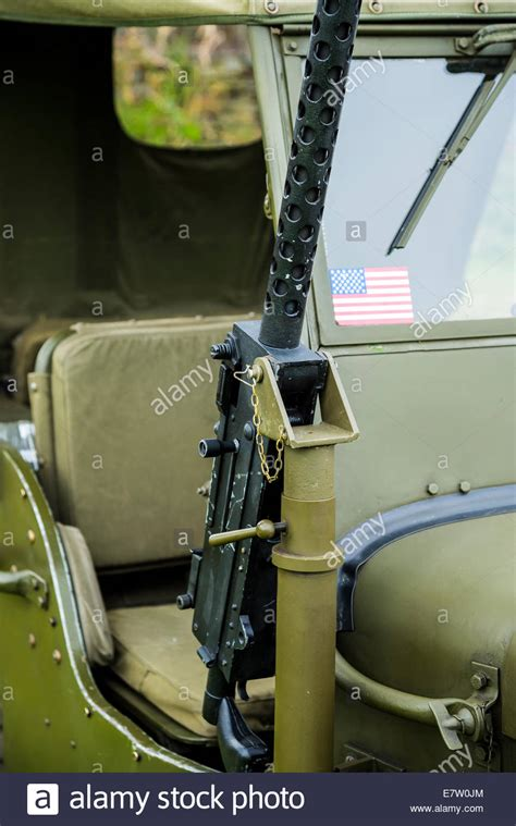 ww2 jeep with machine gun machine gun mounted onto ww2 army jeep on display at car