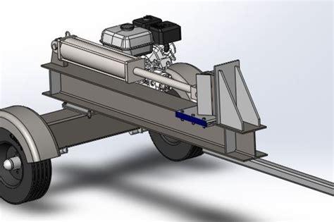 build log splitter design plans woodworking