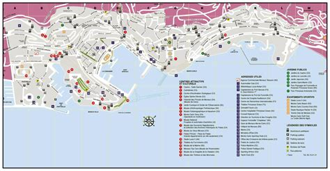 monaco europe map large tourist map of monaco monaco europe mapsland
