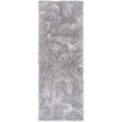 Liza Silver well woven feather liza silver 3 ft x 7 ft modern shag