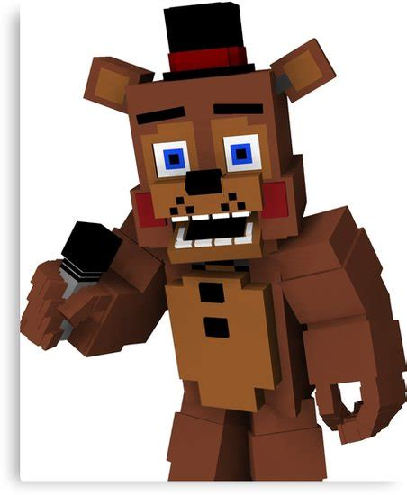 Pdf All Five Nights At Freddys Minecraft Skins by Quot Five Nights At Freddy S Minecraft Freddy Quot Canvas Prints