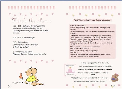 baby shower games ideas templates baby shower agenda template the best letter sle
