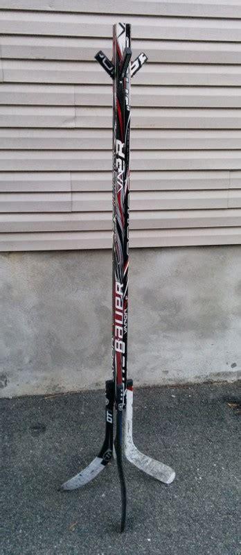 coat rack hockey stick builds