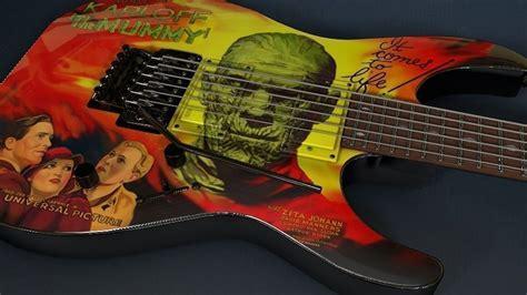 kirk hammett kh3 kirk hammett esp kh 3 karloff mummy guitar 3d model obj