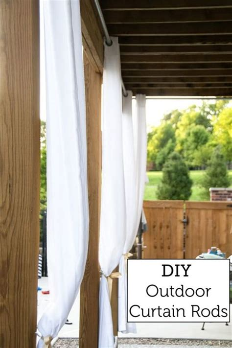patio curtain rod best 25 outdoor curtain rods ideas on pinterest drop