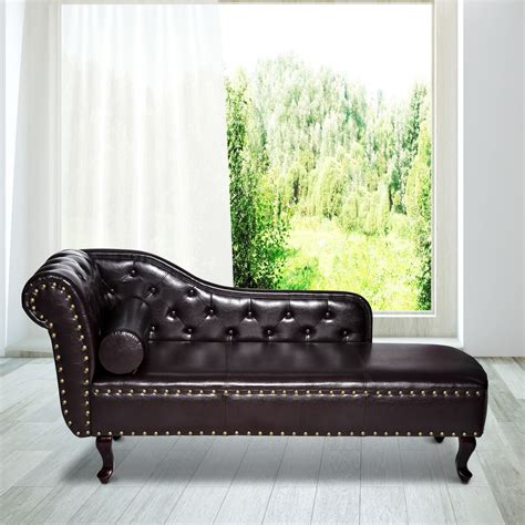 chaise longue leather sofa vintage style faux leather chaise longue ideal home show