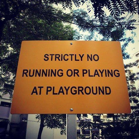 strictly  playing   playground funny store signs