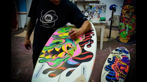 how to paint a surfboard martin varbaro surfart youtube